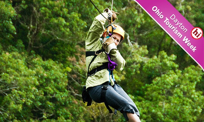 Hocking Peaks Adventure Park – Hocking Hills - Falls: Zipline Adventure Packages for One or Four at Hocking Peaks Adventure Park – Hocking Hills in Hocking Hills, Ohio (Up to 56% Off)
