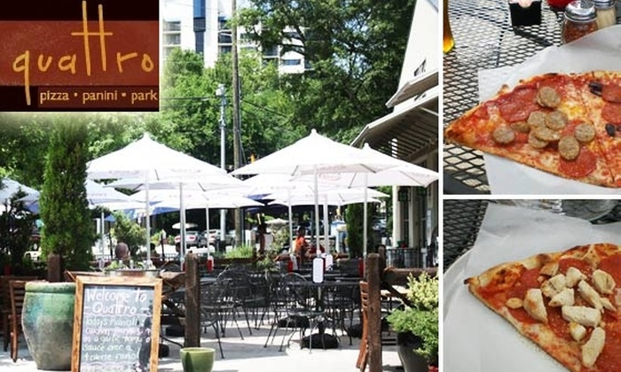 Quattro - Midtown: $10 for $25 Worth of Pizza, Panini, and Wine at Quattro