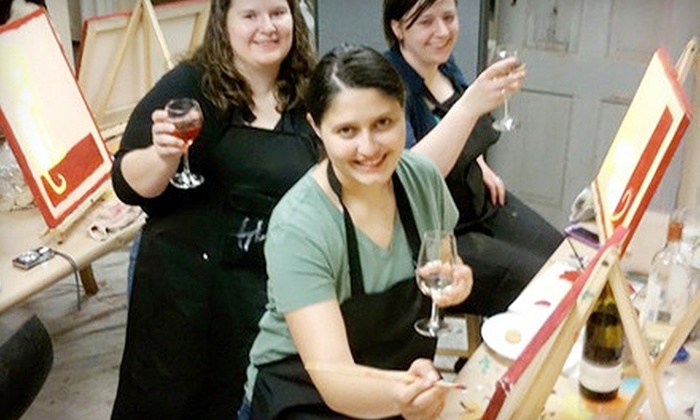 The Loaded Brush - Sellwood - Moreland: Two-Hour BYOB Painting Class for One or Two at The Loaded Brush (Up to 57% Off)