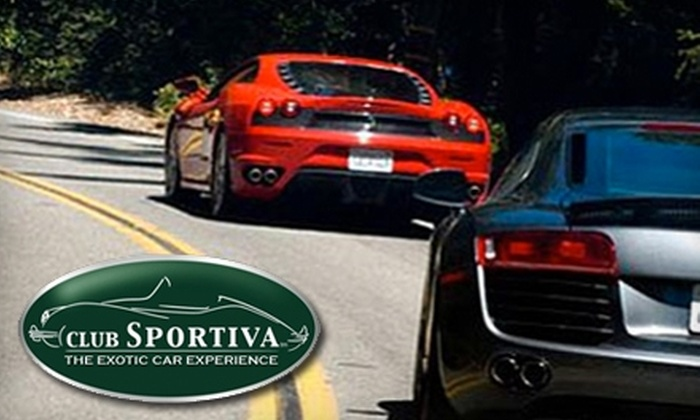Club Sportiva - North San Jose: $599 for an Exotic Car Tour from Club Sportiva