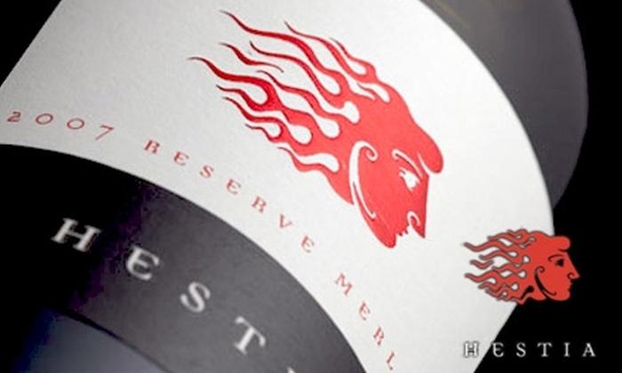 Hestia Cellars - North Industrial: $10 for a Wine Tasting Plus $20 Worth of Bottled Wine at Hestia Cellars ($25 Value)