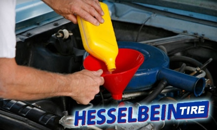 Hesselbein Tire - Multiple Locations: $29 for Oil Change, Tire Rotation, and Battery Check at Hesselbein Tire