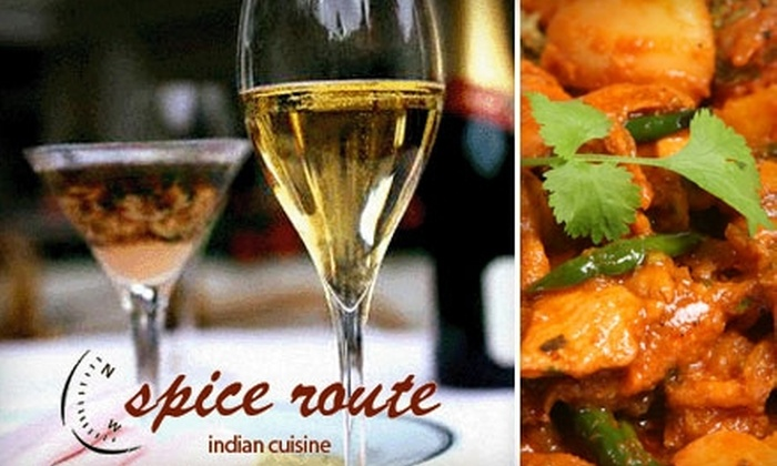 Spice Route - Crossroads: $12 for $25 Worth of Indian Fare and Drink at Spice Route