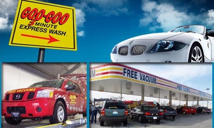 Goo-Goo Express Wash - North Randall: $4 for a Wash, Polish, Protectant, and Tire Shine at Goo-Goo Express Wash ($9 Value)