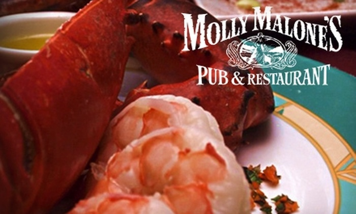 Molly Malone's Pub & Restaurant - Bay Shore: Irish-American Fare and Drinks at Molly Malone's Pub & Restaurant. Choose Between Two Options.