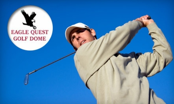 Eagle Quest Golf Dome - West Warwick: $5 for a Large Bucket of Golf Balls at Eagle Quest Golf Dome in West Warwick ($9 Value)