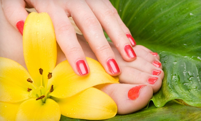 A Head of Class Salon and Day Spa - Harris Hill: $27 for a Classic Mani-Pedi with a Paraffin Hand Dip at A Head of Class Salon and Day Spa in Williamsville ($58 Value)