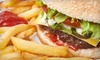 C J Burgers & Pizza - Lawrence Heights: Pizza and Greek Fare at C J Burgers & Pizza in North York (Up to 56% Off). Two Options Available.