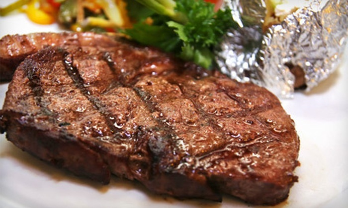 Angus Grill Brazilian Steakhouse - Great Uptown: All-You-Can-Eat Dinner with Dessert for Two, Four, or Six at Angus Grill Brazilian Steakhouse (Up to 56% Off)