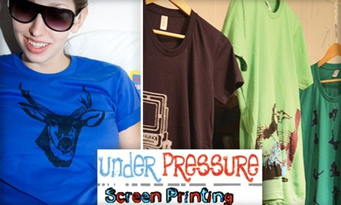 Under Pressure Hands On Screen Shop - Bouldin: $13 for a Custom Silkscreen Print at Under Pressure