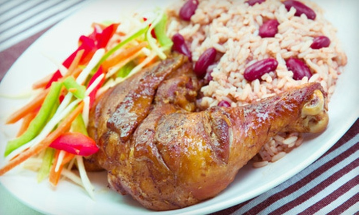 The Jerk Pit - North College Park: Jamaican Fare at The Jerk Pit in College Park (Half Off). Two Options Available.