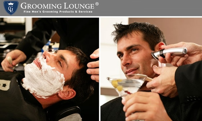 The Grooming Lounge & Groominglounge.com - Multiple Locations: Half Off Toward Haircuts, Business Manicures, or Hot Lather Shaves at The Grooming Lounge