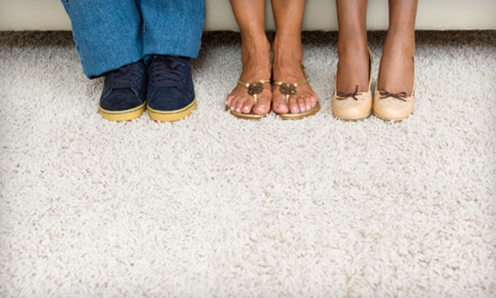 The Dirt Army - Murrieta: $59 for Carpet Deep-Cleaning for Three Areas from The Dirt Army (Up to $150 Value)