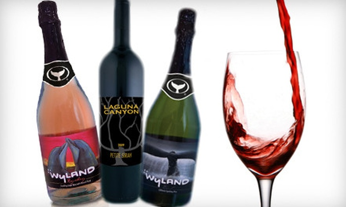 Laguna Canyon Winery - Multiple Locations: $49 for a Wine-Tasting Experience with Two Wineglasses and Three Bottles of Wine at Laguna Canyon Winery ($104 Value)