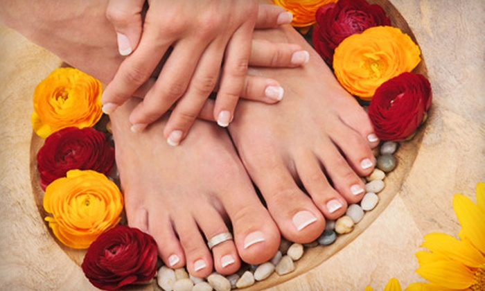 Nails by Angela - Raleigh Hills: $42 for a Manicure and a Pedicure at Nails by Angela ($85 Value)