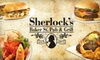 HUSA Management Inc. - Dallas: $10 for $20 Worth of Traditional Pub Fare at Sherlock's Baker St. Pub & Grill