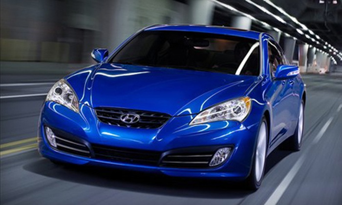 Downtown Hyundai - Riverdale: $25 for Oil Change, Tire Rotation, Brake Inspection and Car Wash at Downtown Hyundai ($84.95 Value)