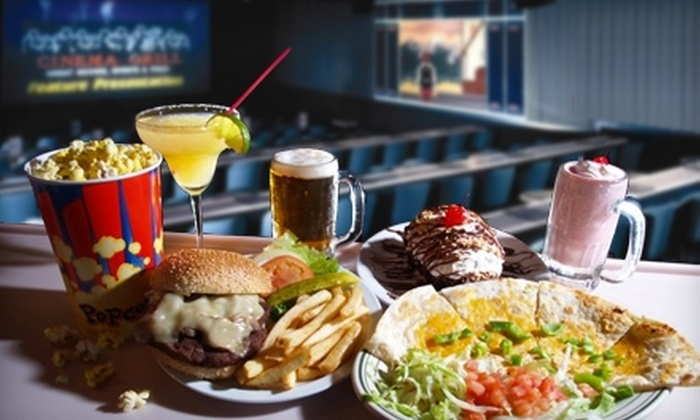 Cinema Grill - Aurora Hills: $10 for $20 Toward Admission, Meals, and Beverages at Cinema Grill in Aurora