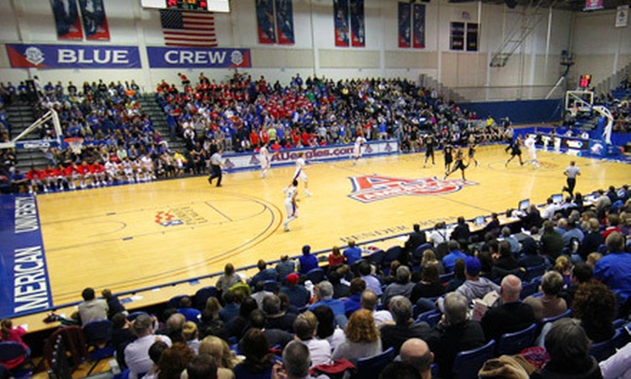 American Eagles - AU Park - Friendship Heights - Tenley: Two Tickets or Family Pack to American University Men's Basketball at Bender Arena (Half Off). Three Games Available.