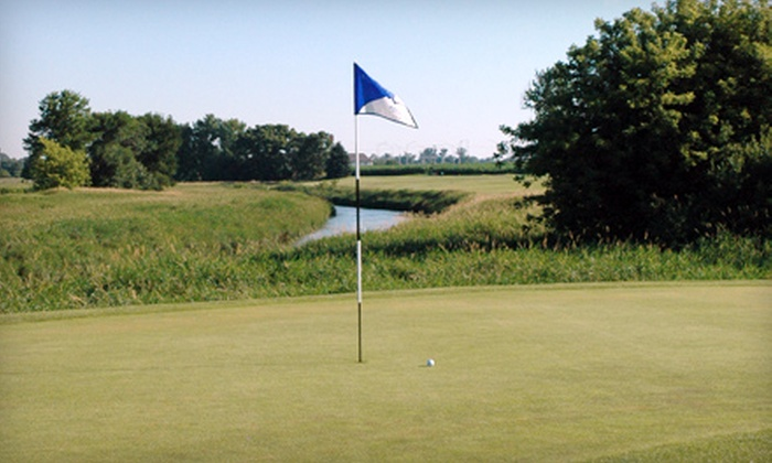 River Heights Golf Course - DeKalb: $35 for 18 Holes of Golf for Two Plus Cart at River Heights Golf Course in DeKalb (Up to $93 Value)