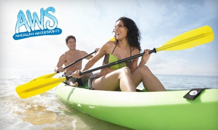 American Watersports - Sea Gardens Beach & Tennis: Kayak Rental from American Watersports in Pompano Beach. Two Options Available.