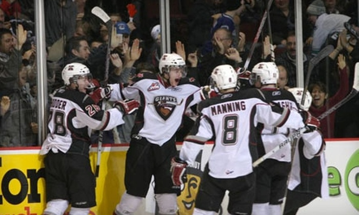 Vancouver Giants - Hastings-Sunrise: $19 for Two Red-Zone Section Tickets to a Vancouver Giants Round-One Home Playoff Game on March 29 or March 30 ($38 Value)