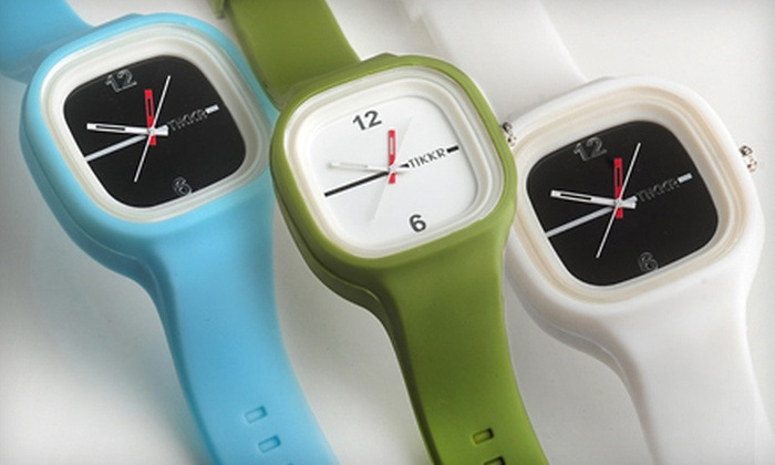 Tikkr: $39 for Wristwatch and Two Extra Bands from Tikkr (Up to $110 Value)