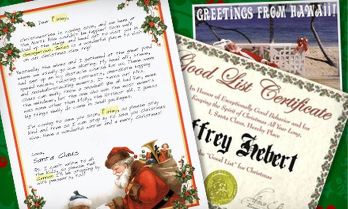 Santa Mail: $14 for a Four-Piece Personalized Letter Package from Santa Mail ($28 Value)