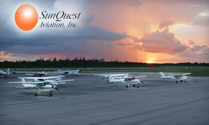SunQuest Aviation - Royal Palm Beach-West Jupiter: One-Hour Discovery Flight from SunQuest Aviation. Choose Between Two Options.
