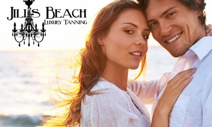 JIll's Beach - Multiple Locations: $29 for $60 Worth of Bed Tanning or Spray Tanning at Jill's Beach