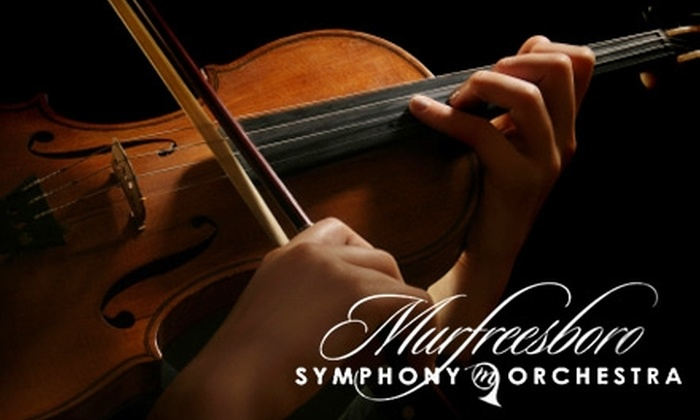Murfreesboro Symphony Orchestra - Murfreesboro: $40 for Two Premiere Tickets to Your Choice of Two Murfreesboro Symphony Orchestra Concerts ($80 Value)