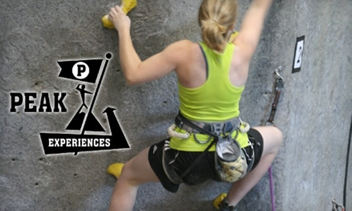 Peak Experiences - Midlothian: $15 for One Introductory Indoor-Climbing Class and a Two-Week Trial Membership at Peak Experiences ($30 Value)