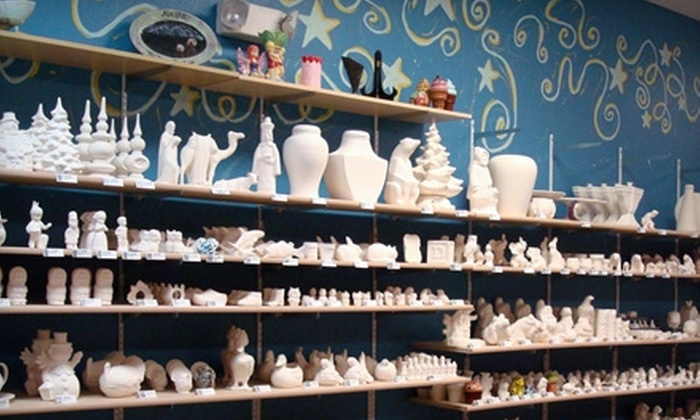 All Fired Up - Taku / Campbell: $15 for $30 Worth of Paint-Your-Own Pottery at All Fired Up
