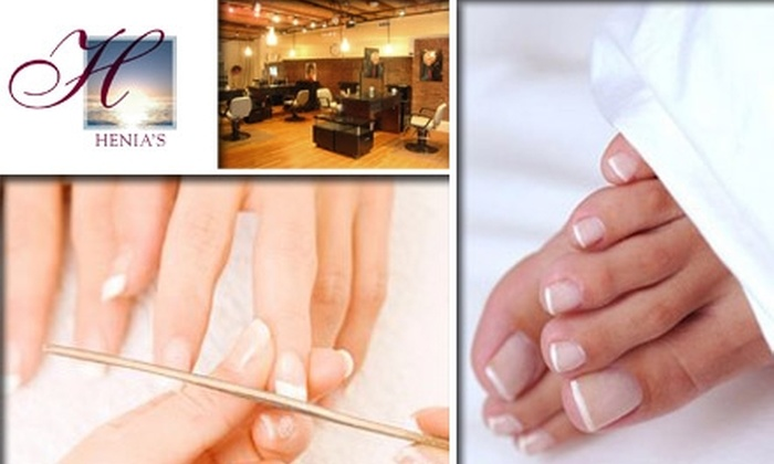 Hair and Day Spa at Henia's - North End: $25 for a Manicure and Pedicure at the Hair and Day Spa at Henia's ($50 Value)