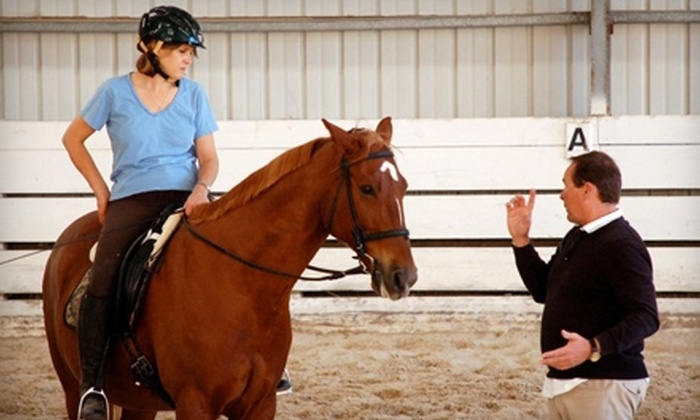 Stratton Dressage and Eventing - Castro Valley: $37 for One-Hour Horse-Riding Lesson from Steven Stratton Dressage and Eventing in Castro Valley (Up to $75 Value)