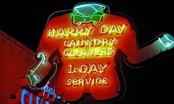 Happy Day Cleaners - Multiple Locations: $10 for $20 Worth of Laundry and Dry-Cleaning Services from Happy Day Cleaners
