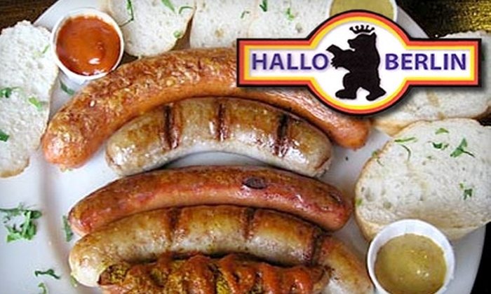 Hallo Berlin - Multiple Locations: $15 for $35 Worth of Traditional German Cuisine and Beer from Hallo Berlin