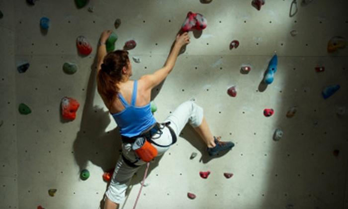 Climb Time Towers - Carmel: Rock-Climbing Packages at Climb Time Towers in Carmel. Two Options Available.