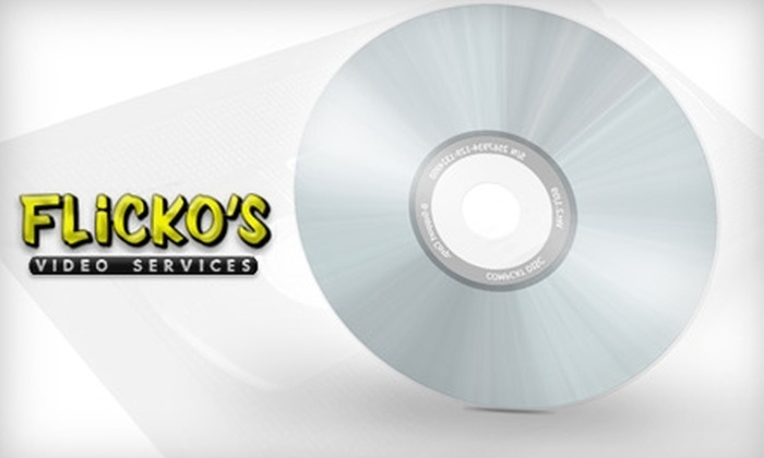 Flicko's  - East Louisville: $9 for a VHS-to-DVD Conversion from Flicko's in Middletown ($20.97 Value)