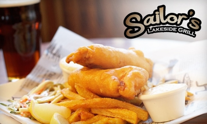 Lucky Sailor's Lakeside Grill - East Canyon Lake: $12 for $25 Worth of Seafood and Drinks at Lucky Sailor's Lakeside Grill in Canyon Lake