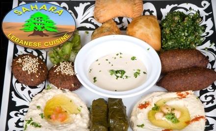 $20 Groupon to Sahara Lebanese Cuisine - Sahara Lebanese Cuisine in Sterling