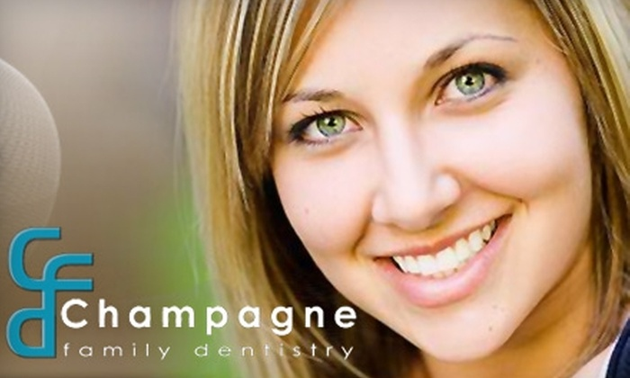 Champagne Family Dentistry - Sparks: $69 for an Exam, Cleaning, X-Rays, and Fluoride Treatment ($330 Value) or $49 for a Take-Home Whitening Kit ($349 Value) at Champagne Family Dentistry in Sparks