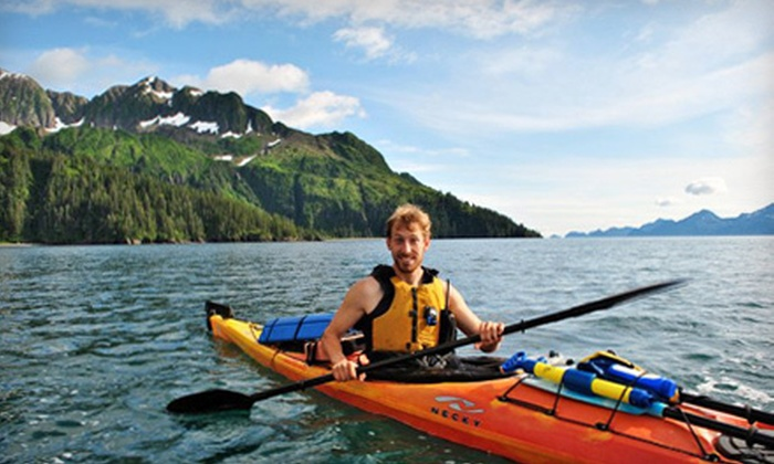 Miller's Landing - Portage Valley: Guided Kayaking Tours for Two or Four People from Miller's Landing in Seward (Up to 58% Off). Five Options Available.