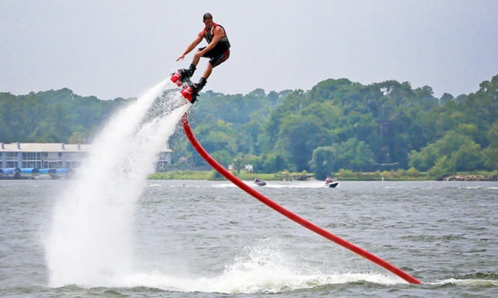 Hydro Rockets - Waterpoint Marina: 20-Minute Flyboard, Hoverboard, or Jetovator Flight for One or Two at Hydro Rockets (Up to 49% Off)
