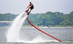 Hydro Rockets: 20-Minute Flyboard, Hoverboard, or Jetovator Flight for One or Two at Hydro Rockets (Up to 49% Off)