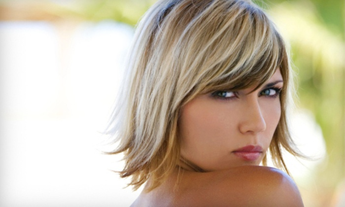Alexandar Salon - Buckhead: Blow-Dry and Style with Color or with Partial or Full Highlights and Toner at Alexandar Salon (Up to 61% Off)