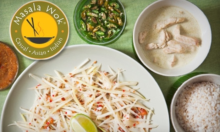 Masala Wok - Parmer Center: $10 for $20 Worth of Southeast Asian Fusion Cuisine at Masala Wok