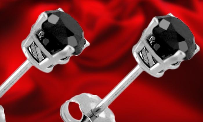 Smart Carat: 1- or 2-Carat Black-Diamond-Stud Earrings from Smart Carat (Up to 69% Off)