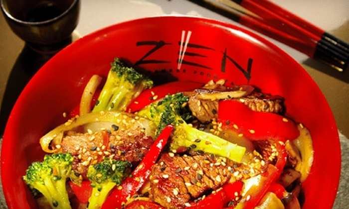 Zen Japanese Food Fast - North University: $10 for $20 Worth of Japanese Fast Eats at Zen Japanese Food Fast. Choose from Three Locations.