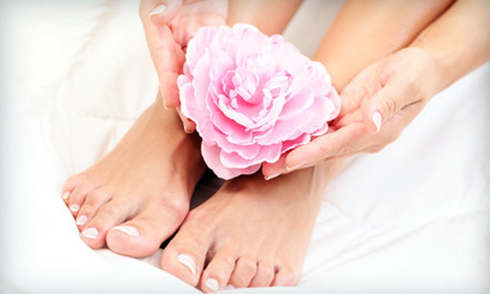 Plethora of Designs - Northeast Anchorage: $25 for a Basic Manicure and Spa Pedicure at Plethora of Designs ($63 Value)